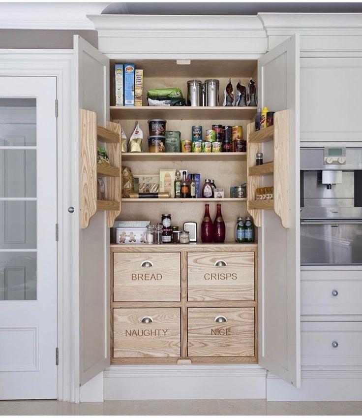 Küchenschränke küchenumbau larder schrank küchenstauraum traumküchen küchen design ideen für die küche traditionelle küchen regale