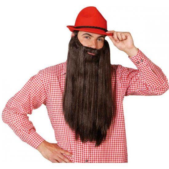 Bruine baard met stijl haar  Lange baard met bruin haar. Extra lange baardset met donkerbruin stijl haar.  EUR 20.95  Meer informatie
