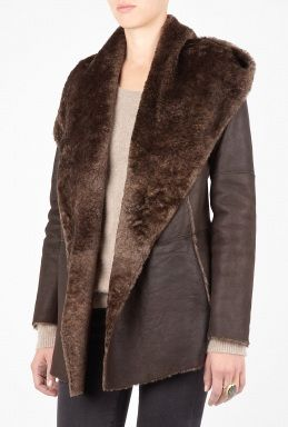 Shearling Hooded Coat by Vince
