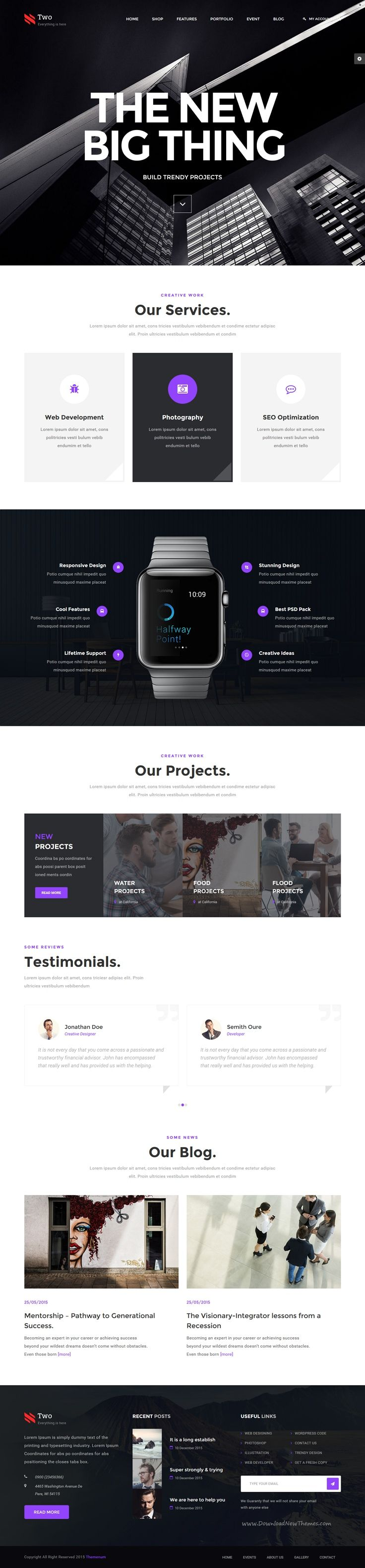 NumberTwo is an creative 7 in 1 #Bootstrap HTML #Template for multipurpose…
