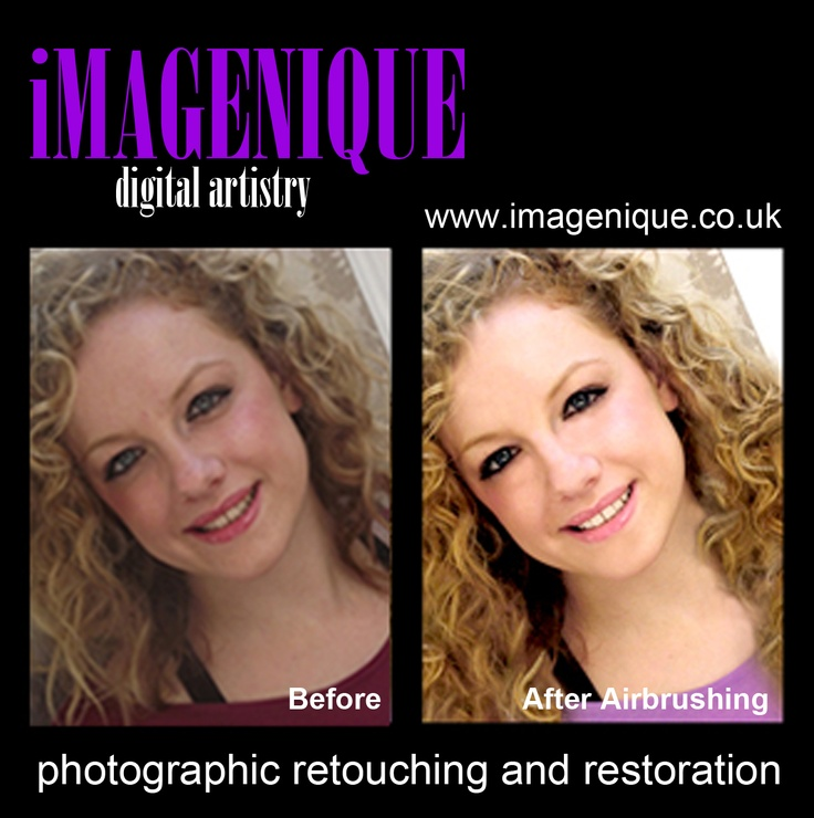 Photographic Retouching. AIRBRUSHING 'Just like in the glossy magazines!' Typical prices £5.00-£16.00