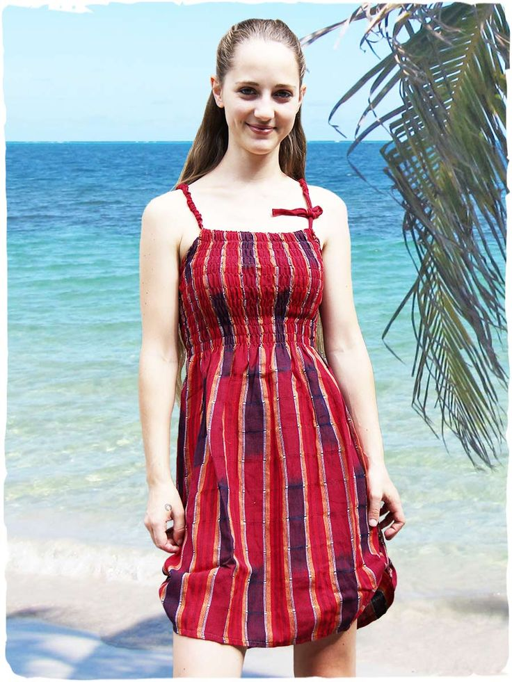 New Allyson cotton sundress  Cotton sundress ruched around bust. You can shorten this cotton sundress to the bottom sides with a cloth strap and a button made of coconut wood. #modaetnica #ethnicalfashion #lamamita #moda #fashion #italianfashion #style #italianstyle #fashionblog #fashionblogger #modaitaliana #lamamitafashion #moda2016 #fashion2016 #style #guatemala #guatemalastyle #dress #vestito