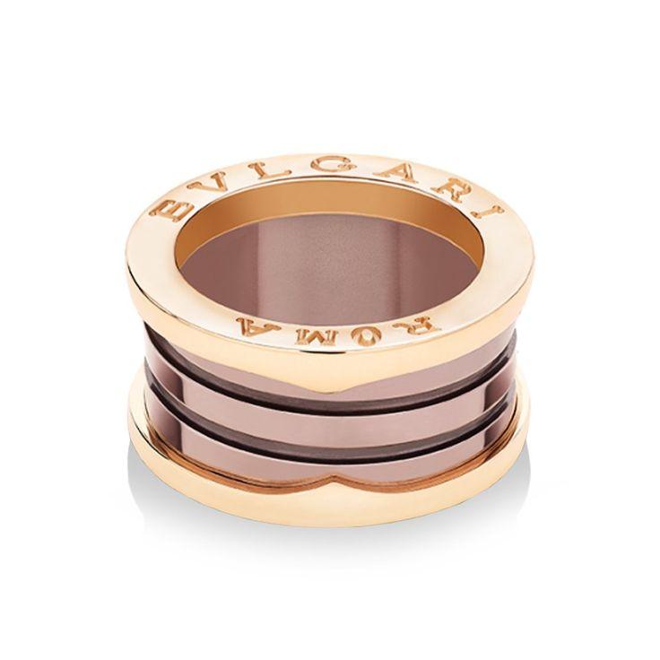 Bulgari B.zero1 Roma Bronze Ceramic Four-Band Ring From Berry's Jewellers