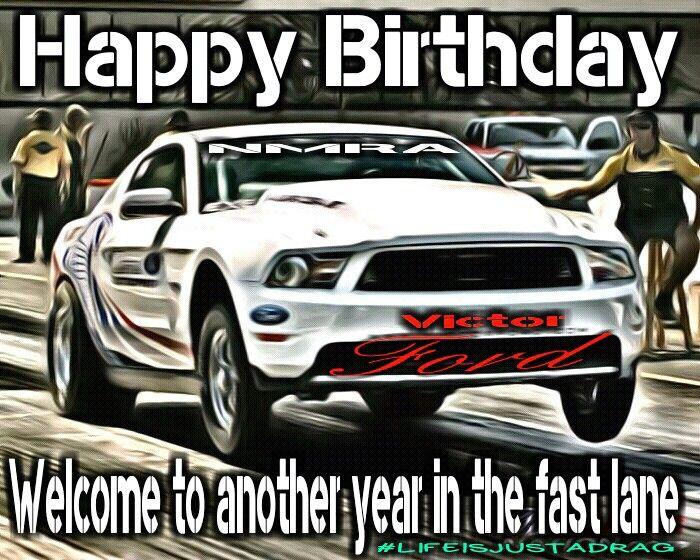 Racing Car Happy Birthday