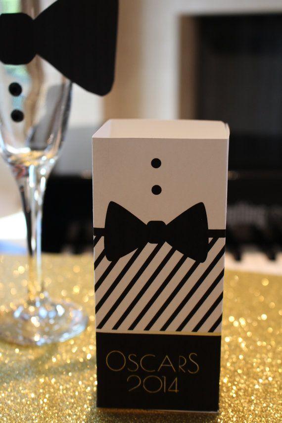 Oscars Popcorn Bucket- Oscars Popcorn Box- Oscars Snack Box-Oscars Printable- Oscars Decor- Hollywood Theme Party