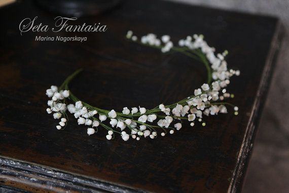 Bridal Flower Crown Lily of the valley Bridal by SetaFantasia