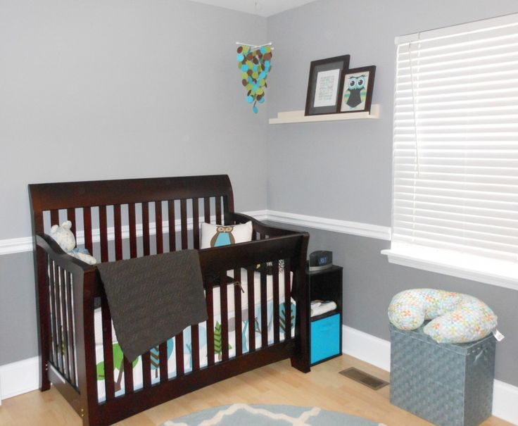 Modern Owl Nursery Dark Colors And Chairs
