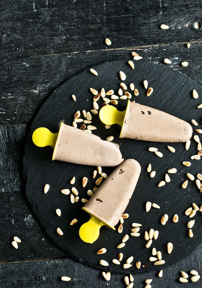 Chocolate Pine Nut Popsicles | Kuchenne Szaleństwa