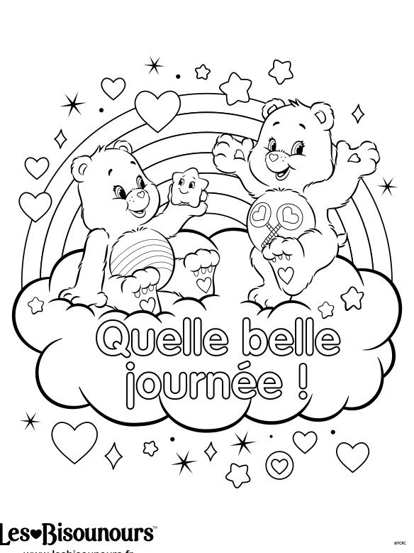 care bear valentines coloring pages - photo#49