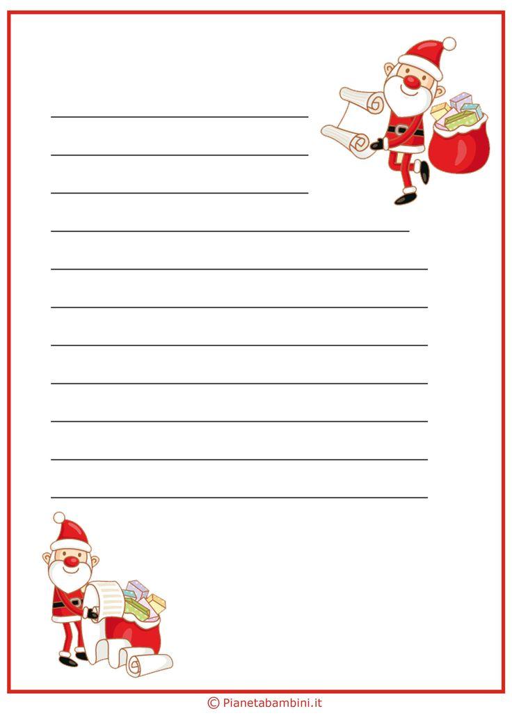 Lettera a Babbo Natale versione 10 da stampare gratis