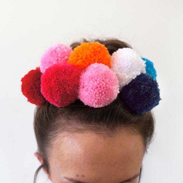 Pompom Hair Bomb - Triple Pack - Hair Accessory for Bun. $40.00, via Etsy.