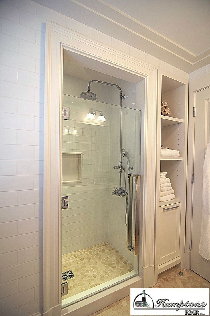 option to add smaller stall and move closet beside it? DesignMine Photo: Contemporary Bathroom #designmine