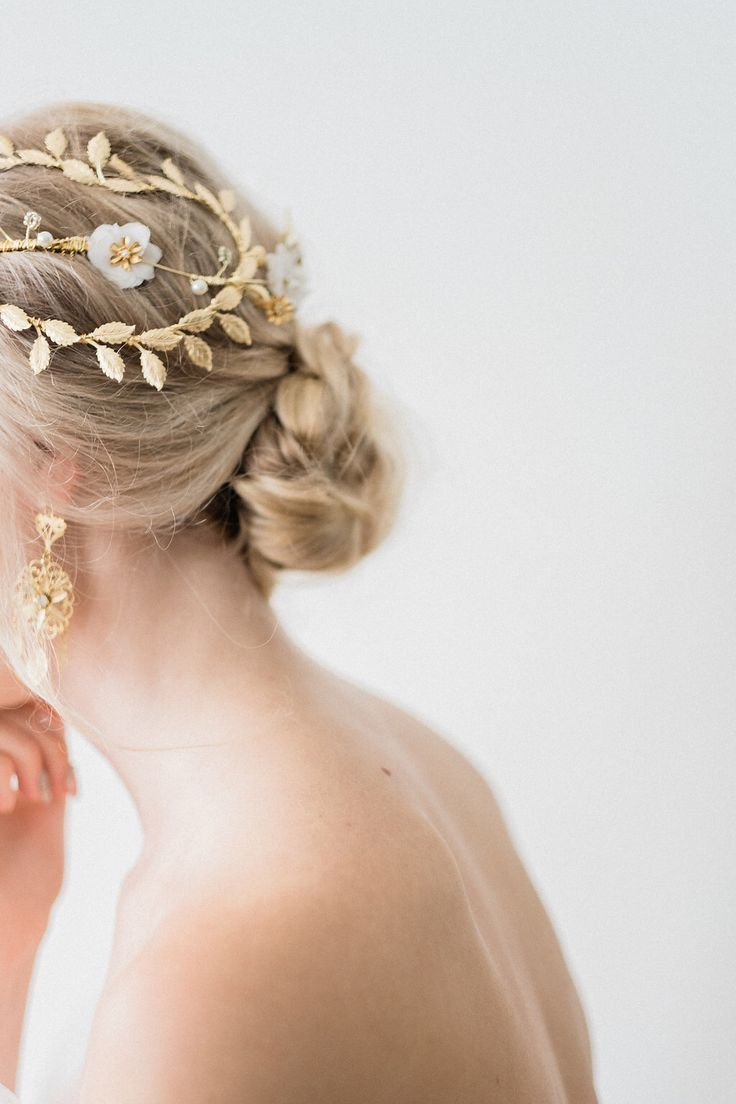 magnificant | gold leaf bridal cap | beautiful & timeless
