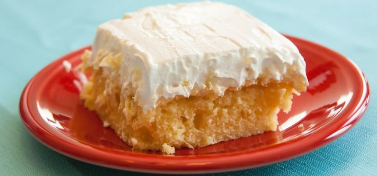 Hawaiian Dream Cake - this light & fluffy cake will take you to the islands. Lovely pineapple taste.