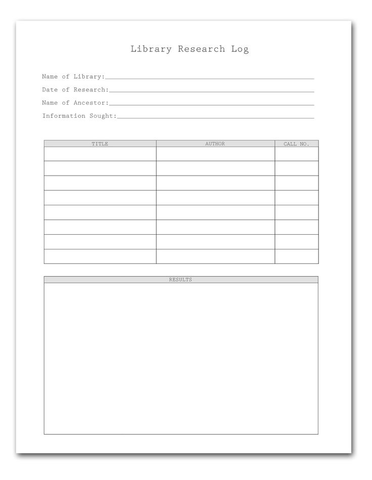 750 best FAMILY TREE ~ Charts \ Forms images on Pinterest Family - sample research log template