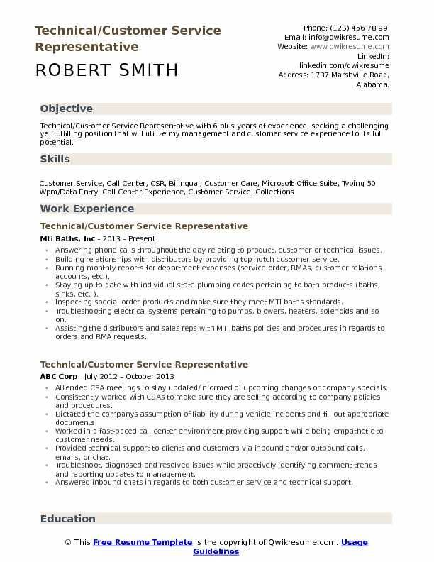 28 Resumes For Customer Service Rep