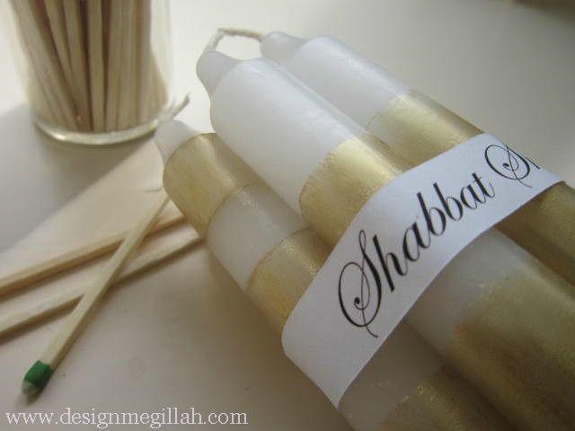 Design Megillah: Painted Shabbat Candles