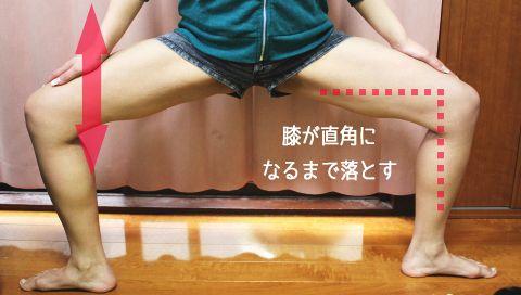 足を細くする筋トレ,モデルスクワット,写真,やり方,姿勢