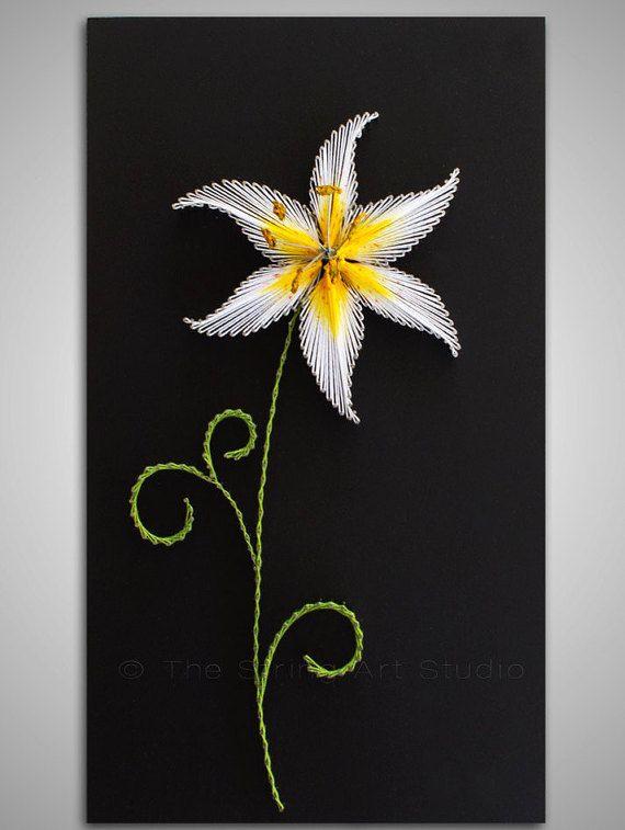 String art The Innocent Lily. String art by TheStringArtStudio