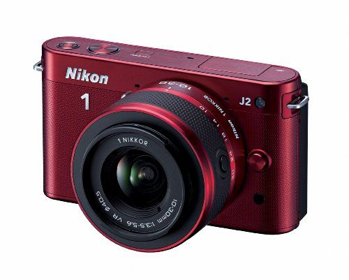 Nikon 1 J2 10.1 MP HD Digital Camera with 10-30mm and 30-110mm VR Lenses (Red) - http://www.highdefinitiondvdstore.com/digital-slr-camera-discount-closeout-wholesale-sale/nikon-1-j2-10-1-mp-hd-digital-camera-with-10-30mm-and-30-110mm-vr-lenses-red-9/
