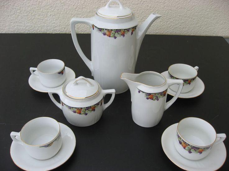 kaffeeservice aus uromaszeiten gr nderzeit jugendstil in antiquit ten kunst porzellan. Black Bedroom Furniture Sets. Home Design Ideas