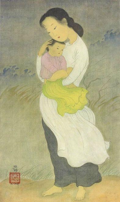 'Maternité' (1955) by Mai Trung Thứ