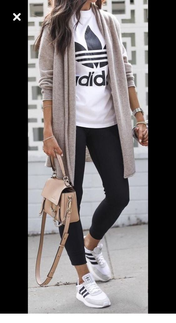 Sneakers, pants and sweater. Inspirational ladies   – womanstyle