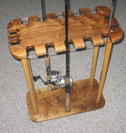 How to make a wooden fishing rod holder diy outdoors for How to make a fishing rod holder