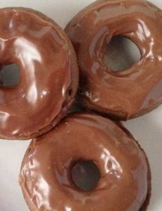 "Baked Nutella Doughnuts (Crazy Adventures in Parenting). ""Light and airy baked doughnut made with Nutella and frosted with a Nutella glaze."""