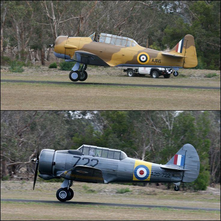 North American Harvard (top) & Australian licence built derivitave CAC Wirraway comparison - 2016 Tyabb Airshow