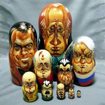 ロシア歴代大統領のマトリョーシカ(特大版) Russian President Matryoshka