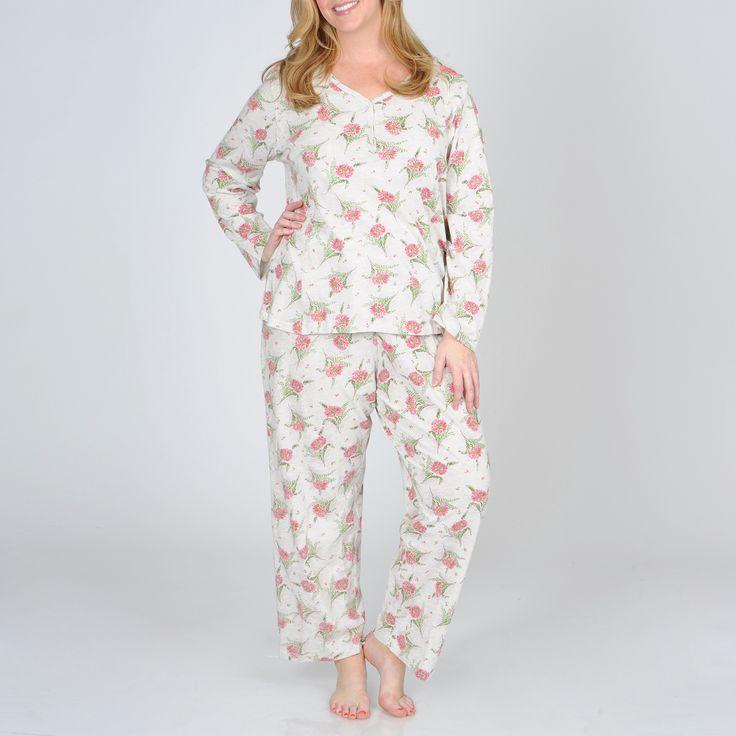 Plus Size La Cera Women's Plus Pajama