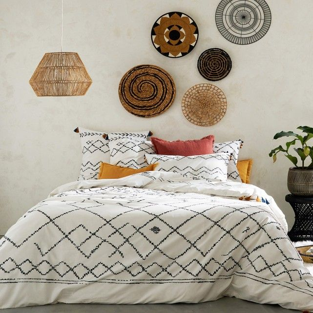 Afaw Berber Print Cotton Duvet Cover With Tassels With Images