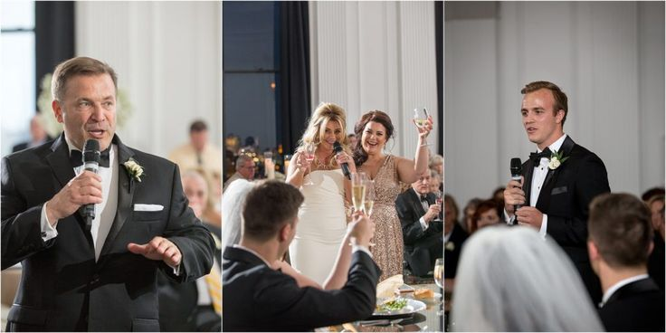 Ashley Gerrity Photography | Cescaphe Downtown Club Wedding |  welcome by father of the groom, maid of honor speech, best man toast