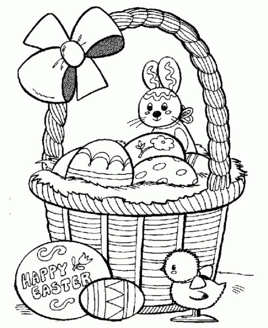Free Printable Childrens Easter Coloring Pages