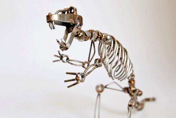 Dinosaur. Trex.  Steampunk Industrial Sculpture by K166 on Etsy, $129.00