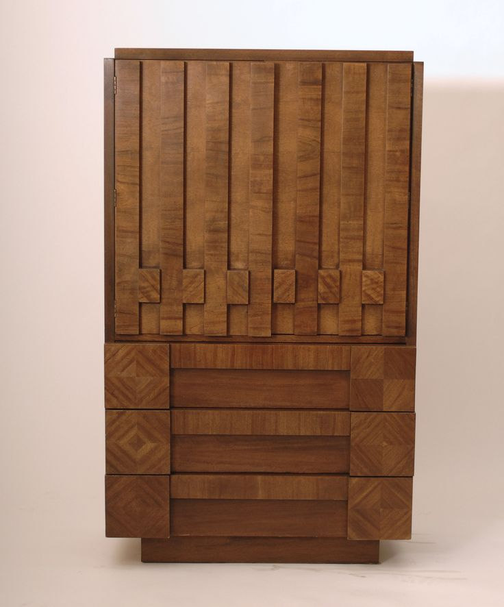 Harrington Galleries - 1970s Brutalist Mosaic Cubist Highboy Dresser by Lane, $1,200.00 (http://webstore.harringtongalleries.com/1970s-brutalist-mosaic-cubist-highboy-dresser-by-lane/)