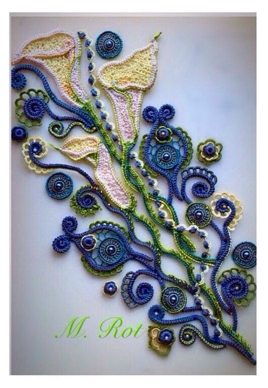 849 best images about IRISH LACE MOTIFS & JOINING on ...