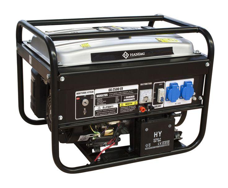 Aggregaatti HANDAI 2500/2800W, sähköstartti + kaukokäynnistys | Rellunkulma.fi Verkkokauppa
