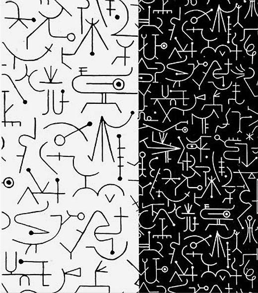 Incantation, Textile Design 1947 by Alvin Lustig