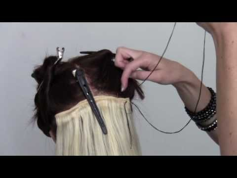 Learn the I-Tip (Bead) Hair Extenension method - YouTube