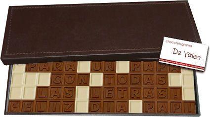 Caja Clásica de 56 chocolatitos. Chocotelegrama Día del Padre. Regalos Originales a domicilio en Argentina.