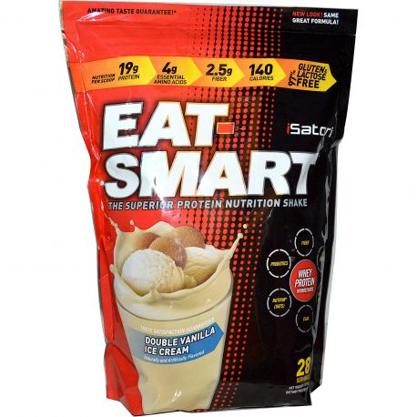 Isatori Eat-Smart Protein Shake Double Vanilla Ice Cream 938g at Megavitamins Supplement Store Australia.Eat-Smart Protein Shake Highest quality proteins from fast-absorbing whey isolates. Eat-Smart Protein provide enhancing amino acids.