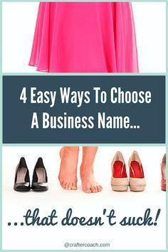 Agonising over how to choose a name for your business, that doesn't suck? Here are four things you need to consider when choosing a name...read more here.