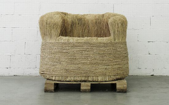 Eco frendly rice straw chair by Beeeen. @designerwallace