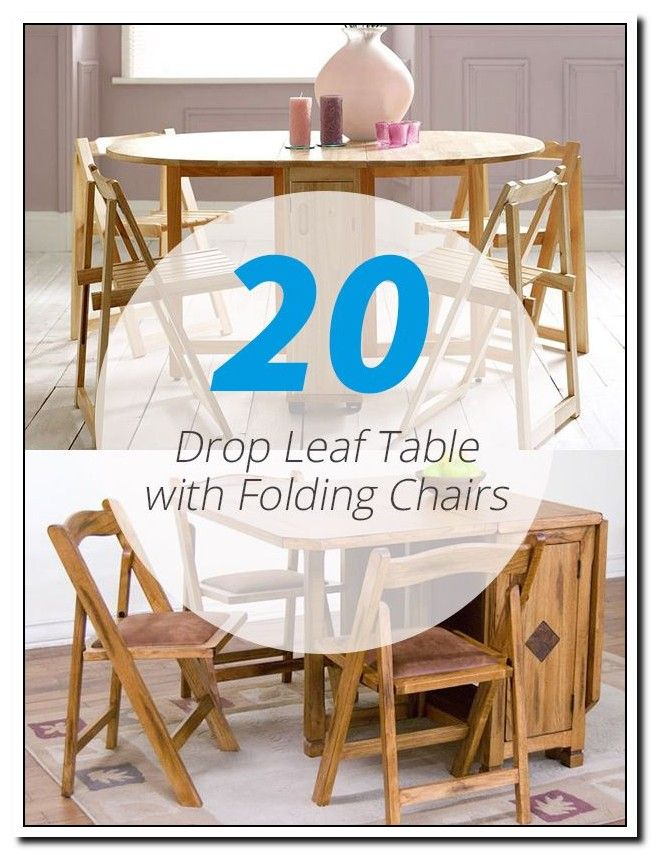 Folding Table Chairs Stored Inside In 2020 Drop Leaf Table