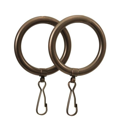 Gatco GC831 Shower Curtain Rings, Sold as Pair (Brass)