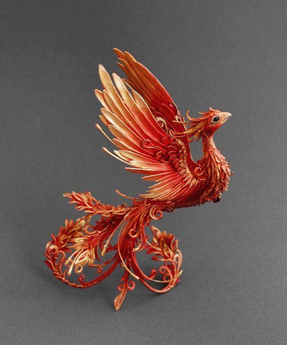 Firebird sculpture phoenix sculpture phoenix by MyOwnDragon