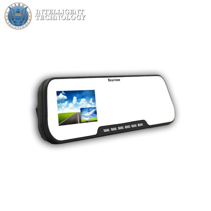 Auto rearview mirror with hidden video camera  The rearview mirror with hidden camera is very useful for people who engage in daily traffic, but also for those who travel on longer distances, while being holiday or for business purposes. It works like a mirror itself, but on its surface you can watch in real time what is recorded behind the car and in the front.
