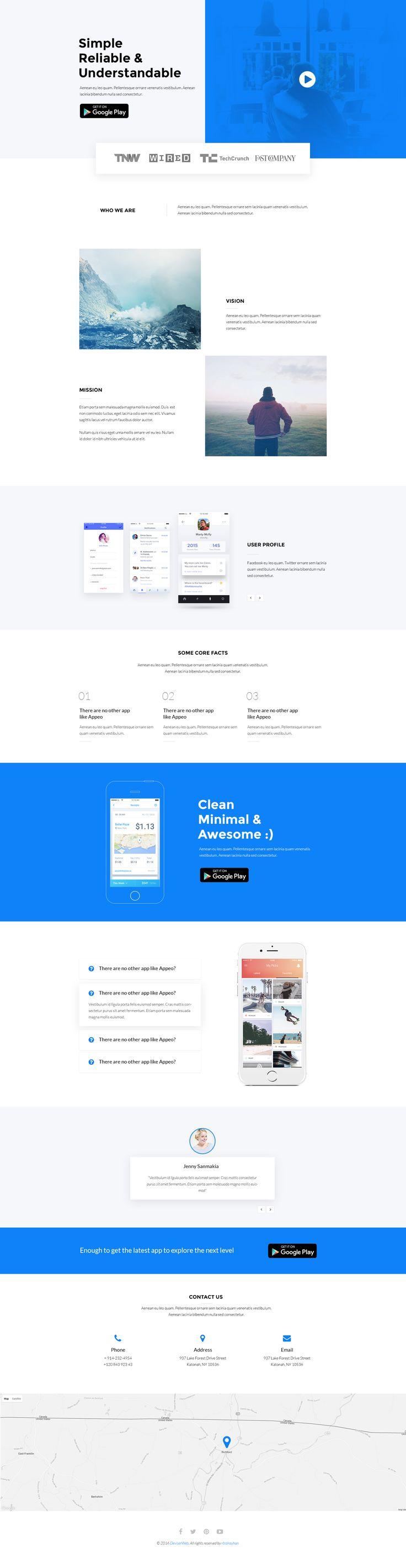 App landing page design ui ux modern